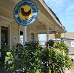 my favorite cafe ever! Mocking Bird Cafe in Bay Saint Louis Mississippi Pass Christian, Beach Town, Beach House, Ocean Springs, Mardi Gras Parade, Road Trippin, Sandy Beaches, Staycation, Vacation Spots