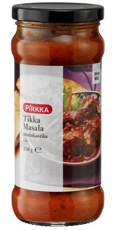 Pirkka tikka masala ateriakastike on mieto ja aromikas intialainen ruoanvalmistuskastike. Tikka masala sopii lampaan, broilerin, kalan, äyriäisten tai vihannesten kanssa.