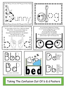 Inspired by Kindergarten: b and d Confusion - dabbers or similar ...
