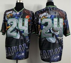 Nike Seahawks #24 Marshawn Lynch Camo USMC Men's Embroidered NFL ...
