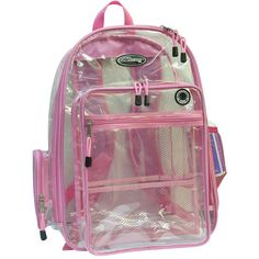 Clear backpacks, mesh backpack, extra large backpacks, printed logo or... ❤ liked on Polyvore featuring bags, backpacks, accessories, pink, crystal clear bags, purple bag, pink clear backpacks, backpack bags and mesh backpack