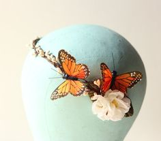 Butterfly headpiece Bridal hair band Whimsical by whichgoose, $65.00
