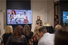 Maggie and I presenting the brand to Cincinnati creatives, influencers and investors.