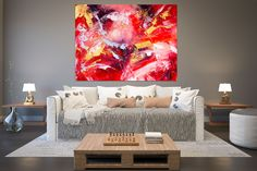 Original Painting on Canvas,Original Abstract Canvas Art,large canvas art,square painting,canvas ori Large Abstract Wall Art, Large Canvas Art, Large Painting, Wall Canvas, Painting Canvas, Texture Painting, Large Art, Knife Painting, Acrylic Canvas