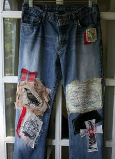 Breathe Again Recycled Jeans I design, embellish, reconstruct jeans, for men and women. And childrens jeans too! I use recycled jeans, sweaters, tee shirts, leather, suede, and various trims. What I will need: You will need to send me a pair of your jeans, and I will add patches and embellish them. We can discuss preferences, color, theme, etc. Please note: Each pair of jeans are a work of art, and no two will ever be the same. Review/Feedback: Beth did an outstanding job with the pants I…