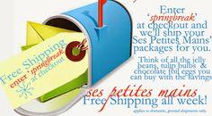 Free Shipping! Ses Petites Mains tiny chic clothing