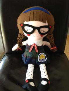 Super Cute Schoolgirl Dolly (pattern by Dolls And daydreams)