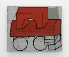 3 Mario De Brabandere - Compositie met houten bouwblokken - 2011 - No. 7 - 50 x 61 cm