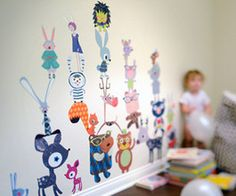 2 Fantasy forest critters - Kids Wall Stickers, Nursery Wall Decals + fun room accessories! - Leafy Dreams Nursery Decals