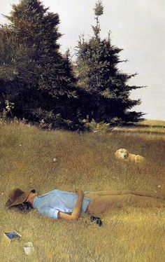 Andrew Wyeth 'Distant Thunder' - Andrew Newell Wyeth was a visual artist… Jamie Wyeth, Andrew Wyeth Paintings, Andrew Wyeth Art, Mary Cassatt, Tempera, Hieronymus Bosch, Dog Art, American Artists, Les Oeuvres