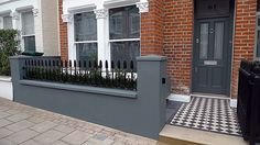Front Garden Design grey walls planting Balham Clapham Wandsworth Battersea Source by London Garden, Victorian Front Garden, Grey Walls, Garden Wall Designs, Small Front Gardens, Beautiful Home Gardens, Garden Design, Front Garden Design, House Front