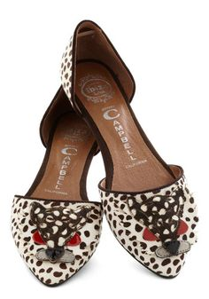 What more could I actually want from a pair of shoes?? Eye of the Tigress Flat, #ModCloth