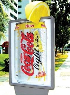 Coca Cola Lemon street marketing.