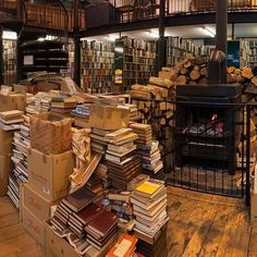 OMG this bookshop has an open fire. And a cafe. And yes, lots and lots of books. 19 Magical Bookshops Every Book Lover Must Visit