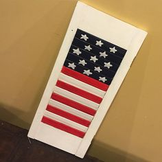 Another Upcycled shutter in HooNew #HooNew # #flag #chattanooga #repurpose #upcycled