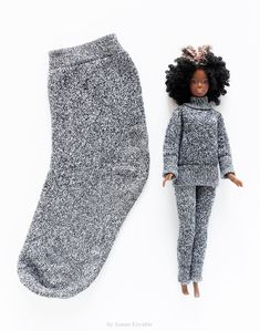 Sockscrafts socks pyjamas barbieclothesdiy gray doityourself diyandcrafts diy ideas recyclingideas by sanae errabiehow to make doll clothes from old socks Barbie Clothes Diy, Barbie Dolls Diy, Barbie Outfits, Sewing Doll Clothes, Sewing Dolls, Barbie Dress, Doll Clothes Patterns, Diy Doll, Clothing Patterns