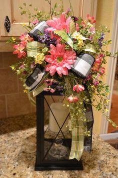 Pink Gerbera Daisy Butterfly Lantern Swag. $38.00, via Etsy.