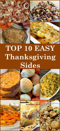 Here's a selection of the BEST TOP 10 Side Dishes from talented bloggers. All…