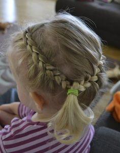 dutch braid headband and a sideways french braid combined