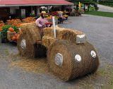 it's a tractor...new form of hay ride