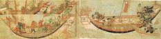 Japon samurayların Yuan gemilerine saldırısı (1281)12 ağustos 1281 - Kubilay Han'ın donanması Japonya'ya yaklaştığı sırada çıkan bir tayfun neticesinde battı. (Moğolların Japonya seferleri)