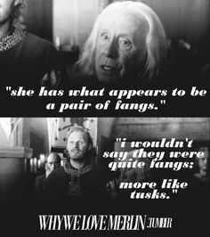 Why we love Merlin--freaking hilarious
