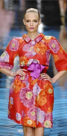 flower printed spring dress by Valentino