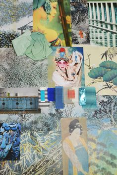 Designers Guild Inspirational mood boards from our studio for our SS15 collections