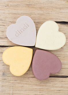 Gorgeous all natural heart soaps