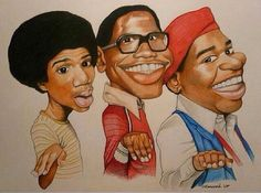 Ahhhh What's Happening! Black Love Art, Black Girl Art, My Black Is Beautiful, Art Girl, Black Tv, Funny Caricatures, Celebrity Caricatures, Celebrity Drawings, Black Art Painting