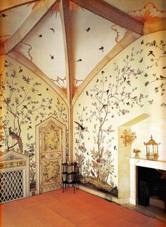 inspiration for a beautiful nursery room! Birdcage Room - Grimsthorpe Castle, Lincolnshire circa Book: Early Georgian Interiors by John Cornforth Exterior Design, Interior And Exterior, Georgian Interiors, Georgian Homes, Decoration Design, Baby Room Decor, Of Wallpaper, Dream Rooms, My Dream Home