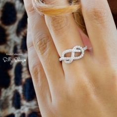 Infinity ring.....so pretty!  For our anniversary one day...hint hint :P