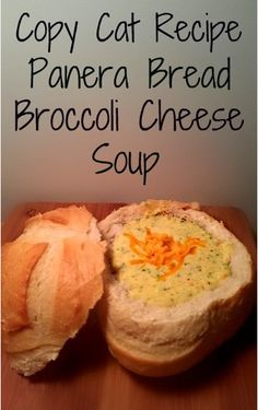 Panera Bread's Copycat recipe for Broccoli Cheese Soup