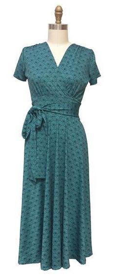 #Karina Dresses - #Karina Dresses Margaret Dress - Teal Fans - AdoreWe.com