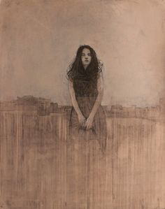 "Federico Infante, The Vanishing Veil, 2014, Acrylic on Paper, 40"" x 32""…"