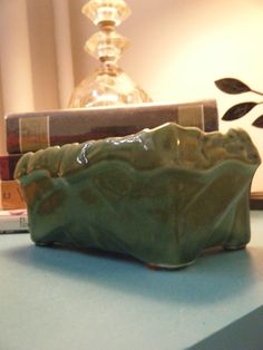 McCoy Pottery Green Window Planter