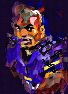 Adrian Peterson Cubism Abstract Painting - Virtual Painter 6