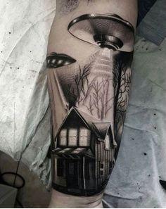 Incredible Alien Tattoo from Tom Rendall. #inked #inkedmag #tattoo #alien #art…