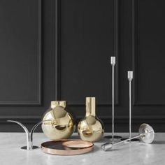 His public ornaments can be seen in many Swedish towns. He also designed a series of brass candlesticks for a Swedish manufacturer called Ystad-Metall that closed down Stockholm, Spring New, Spring 2016, Nordic Home, Messing, Polished Brass, Decoration, Candlesticks, Decorative Items