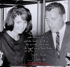 """""""For Clint Hill with memories and my gratitude forever- for all you did to make those years the happiest ones for the President and for me.""""  Christmas 1966 - Jackie & SS Agent, Clint Hill"""