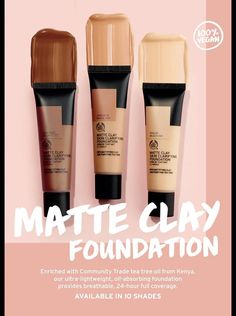 Matte Foundation, Powder Foundation, Makeup Foundation, Best Body Shop Products, Beauty Products, Body Shop At Home, The Body Shop, Tea Tree Oil, Body Care