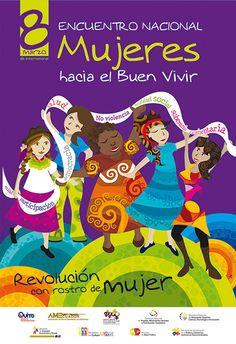 Cartel del Encuentro Mujeres hacia el Buen Vivir...