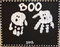 Art and Play: Boo prints Halloween 2, Halloween Projects, Fingerprint Art, My Boo, Holiday Treats, Cool Kids, Crafts For Kids, Snoopy, My Favorite Things