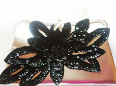 Vintage silver and black beaded clutch by TheMakersChoice on Etsy, $32.99