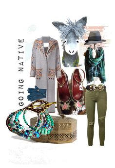 """""""Going Native"""" by minalucinda ❤ liked on Polyvore featuring art"""