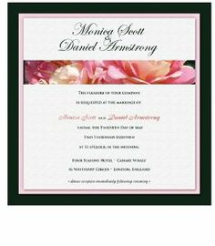 275 Square Wedding Invitations - Twin Peach Roses on Black by WeddingPaperMasters.com. $687.50. Now you can have it all! We have created, at incredible prices & outstanding quality, more than 300 gorgeous collections consisting of over 6000 beautiful pieces that are perfectly coordinated together to capture your vision without compromise. No more mixing and matching or having to compromise your look. We can provide you with one piece or an entire collection in...
