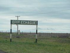 Cartel de la entrada al pueblo