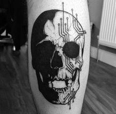 Circuit skull by Matt Pettis