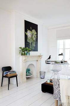 Living room is usually different in design as opposed to else where. However, the news more styles began to emerge and be integrated in to the classic interior de… Dulux White Cotton, Home Living, Living Spaces, Living Rooms, Garden Living, Unused Fireplace, Mayfair, Modern Desk, Living Room Paint