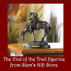 The End of the Trail Horse figurine bronze finish indian trail of tears statue free s $29.95   http://stores.ebay.com/Slems-Gift-Store  or order directly from me at dslem3@yahoo.com for 10% off your order!